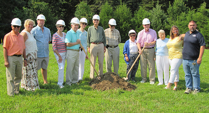 Groundbreaking for the New Cottages