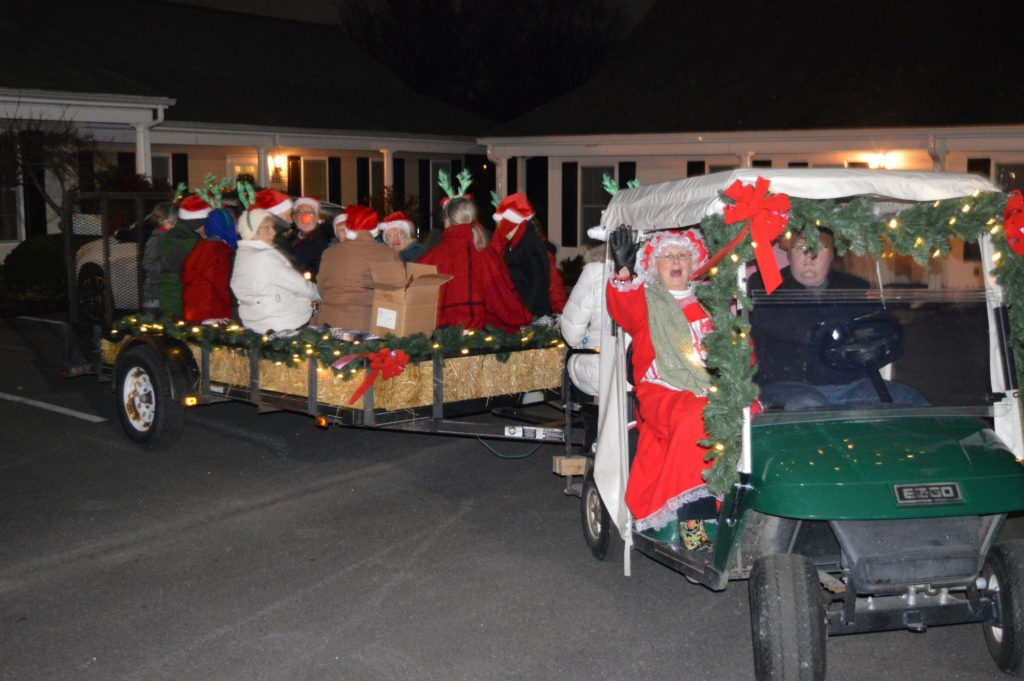 Pictured are Londonderry residents caroling in Londonderry Retirement Community.