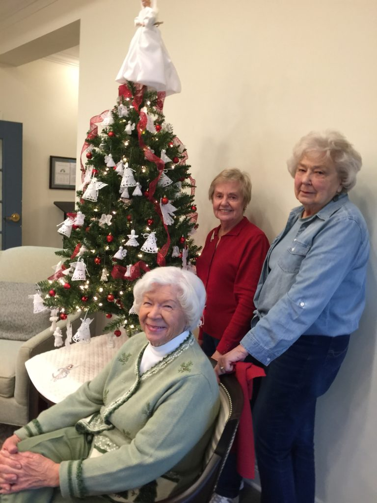 Pictured left to right are Londonderry residents Dottie Dew (seated), Pat Lewers and Thelma Haney.